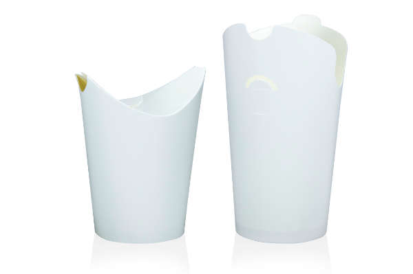 jednorazowe kubki do napojów zimnych białe